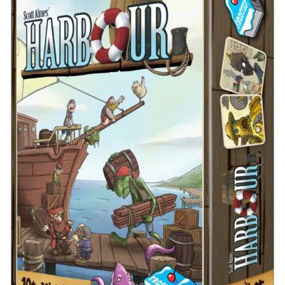Harbour - Worker Placement Spiel von Scott Almes und Illustrationen von Rob Lundy