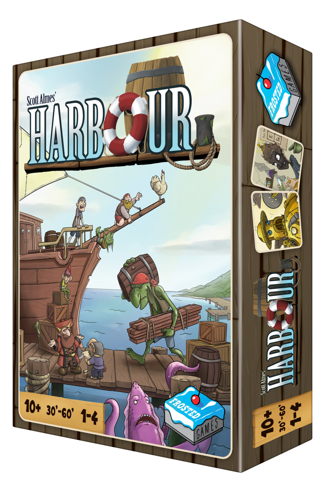 Harbour - Worker Placement Spiel von Scott Almes und Illustrationen von Rob Lundy
