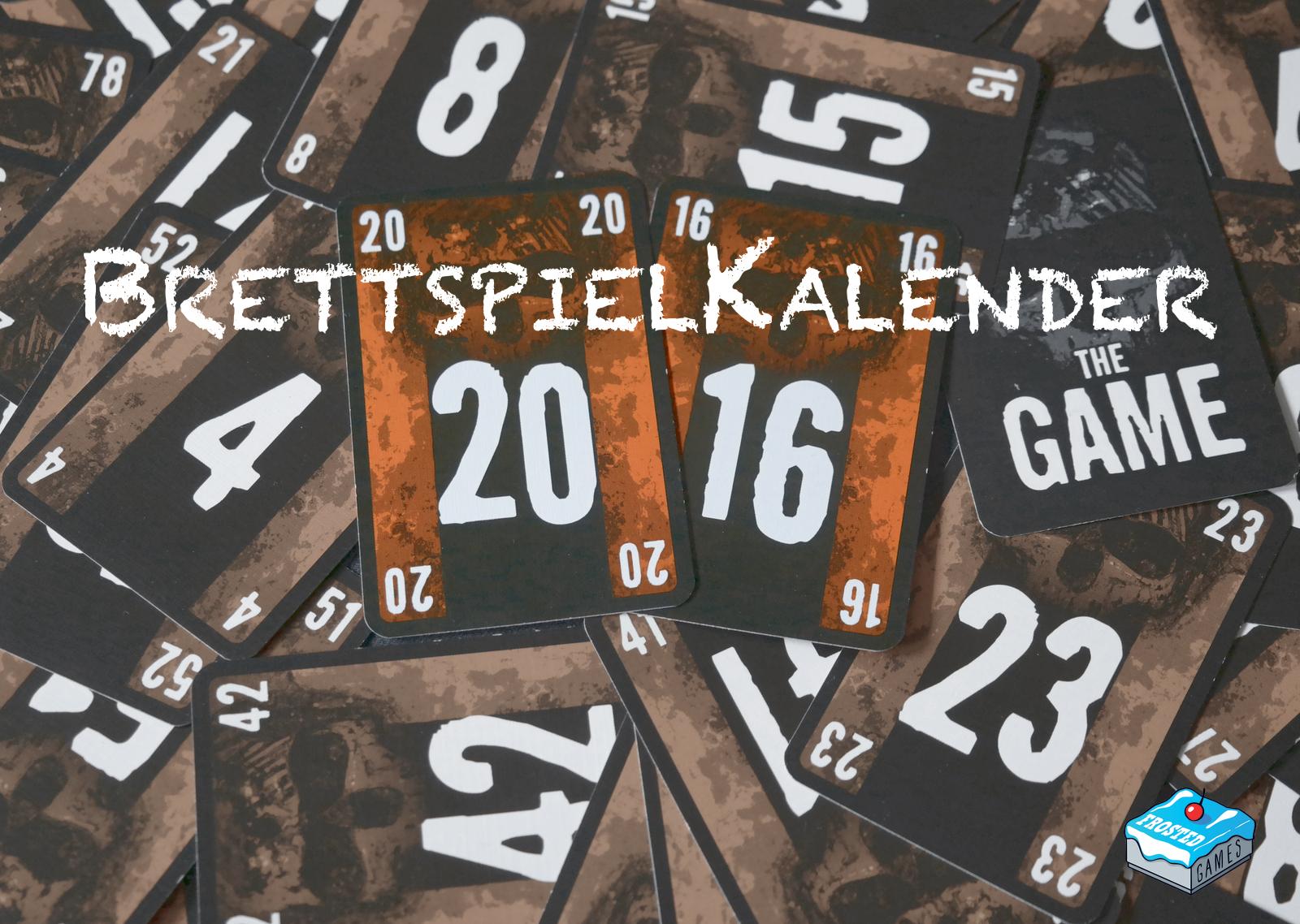 Brettspiel-Wandkalender 2016