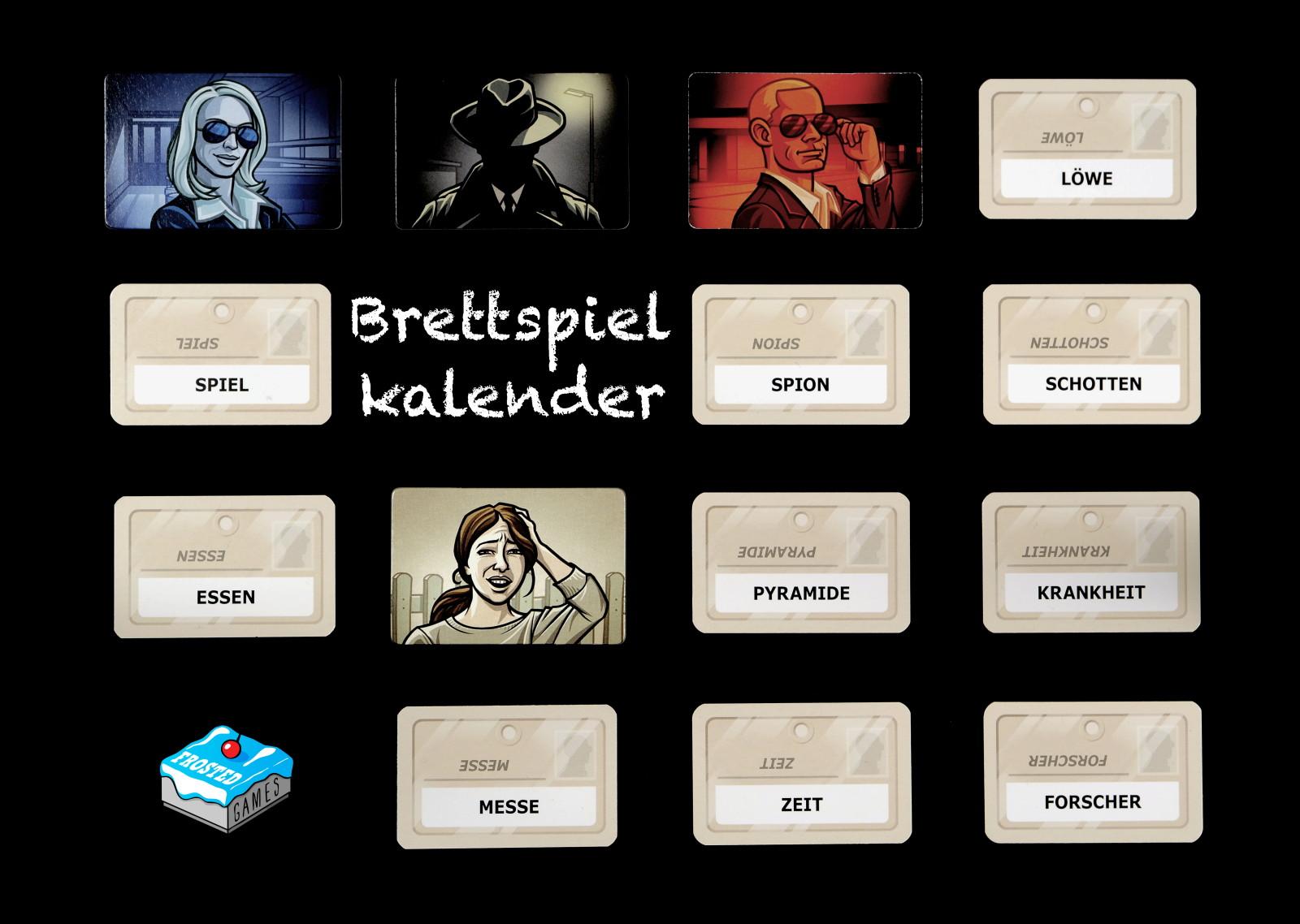 Brettspiel-Wandkalender 2017
