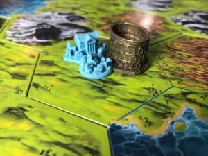 Siedlung, Akademie und die Große Arena (Wunder)