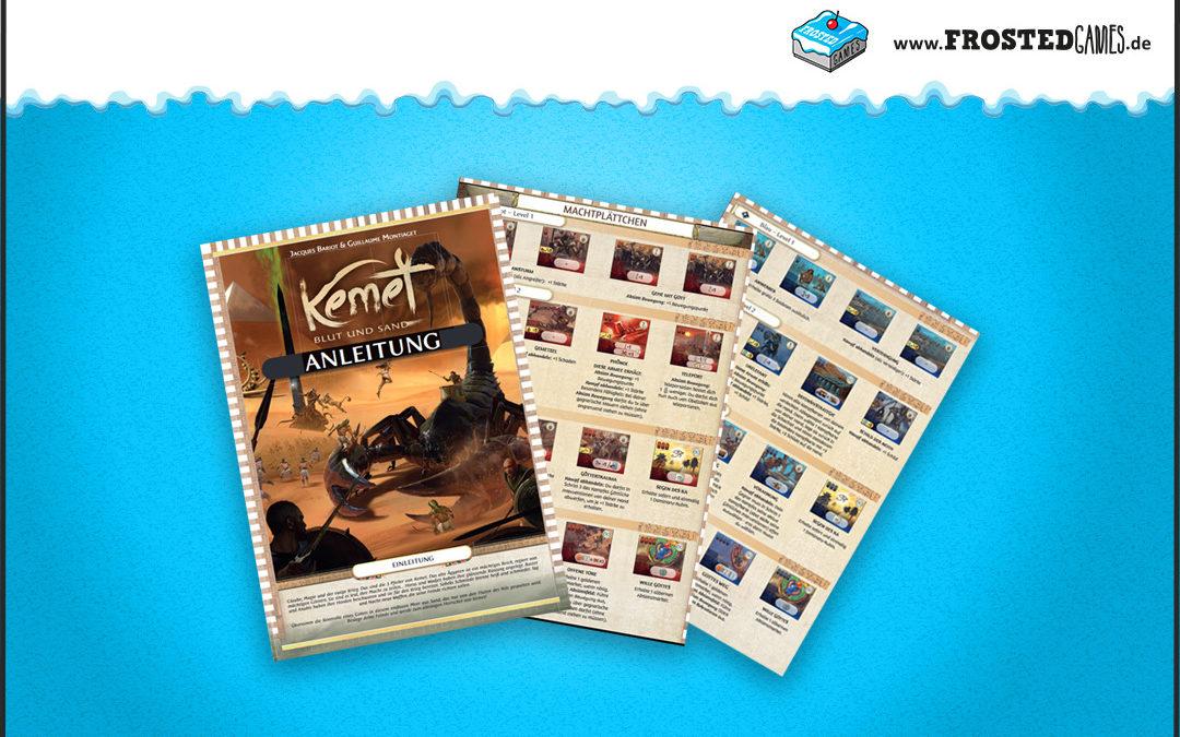 Kemet: Neue Anleitung und Spielhilfen